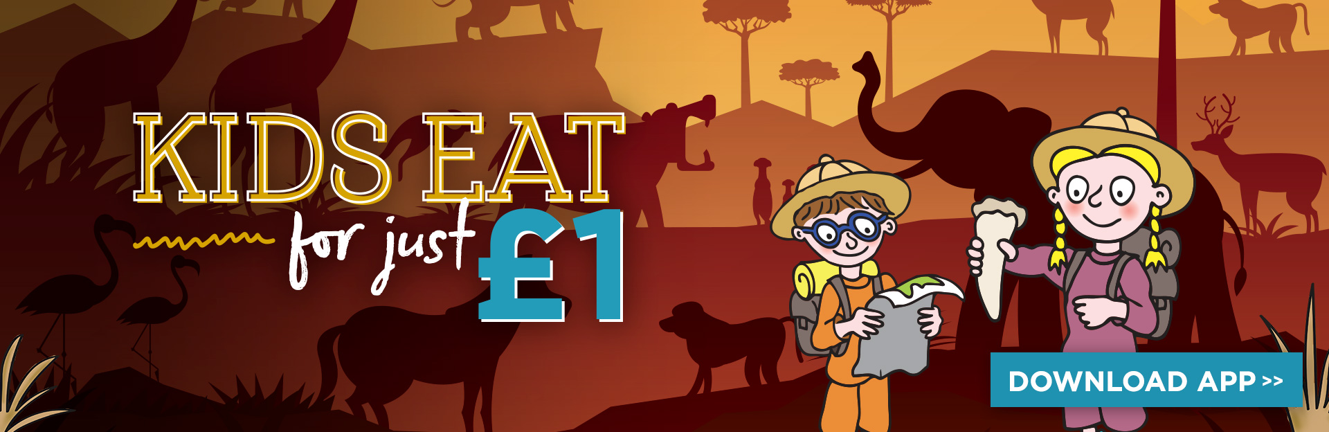 Kids eat for £1 this half-term at Stonehouse!