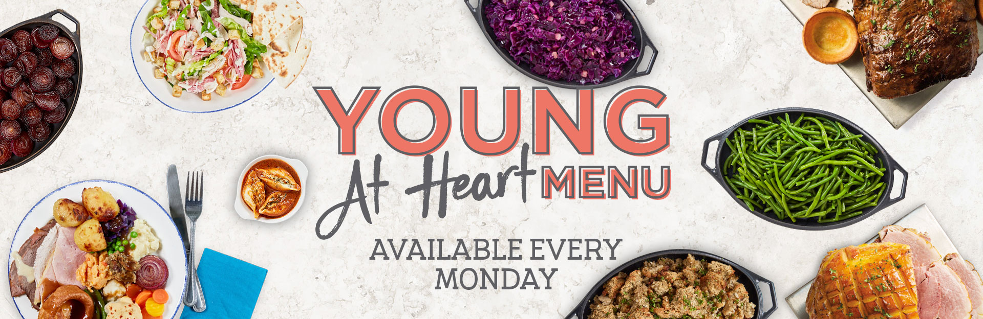 Young at Heart Menu
