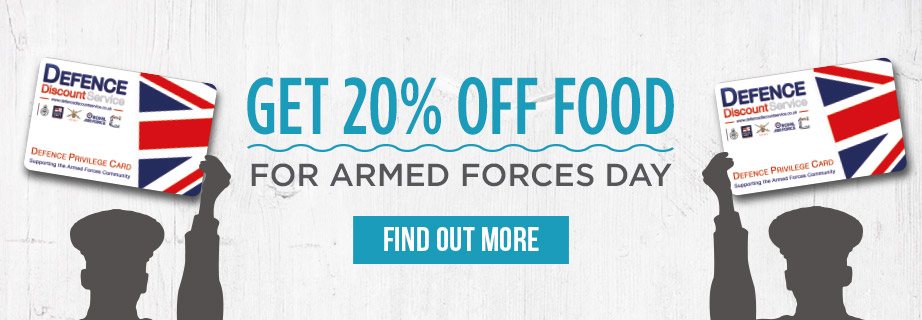 Armed Forces Discount at The Farmers Arms