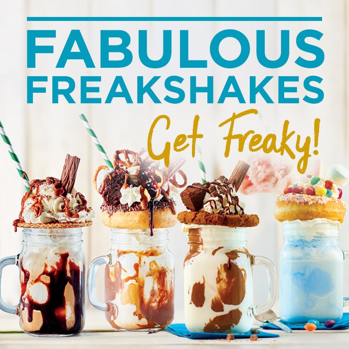 Try our new freakshakes