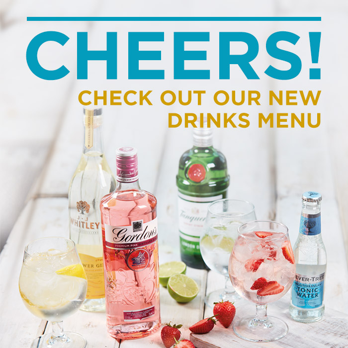 We've got a refreshing, new drinks menu!