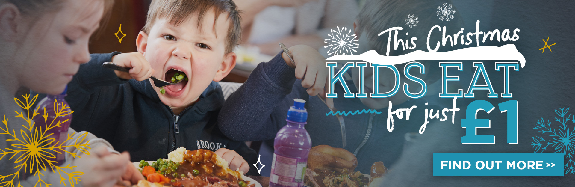 Kids eat for £1 this Christmas!