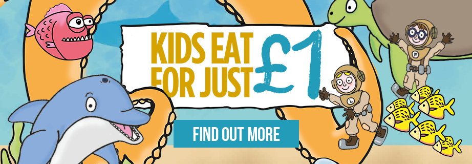 Kids eat for £1 at your local Stonehouse