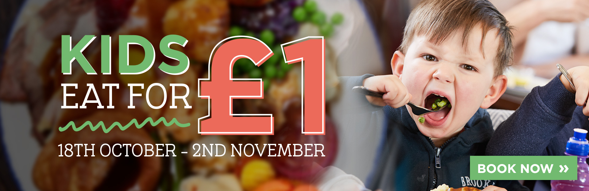 Kids eat for £1 at The Micker Brook