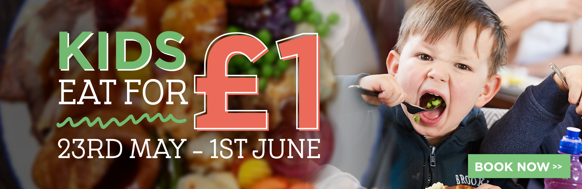 Kids eat for £1 at The Old Moat House