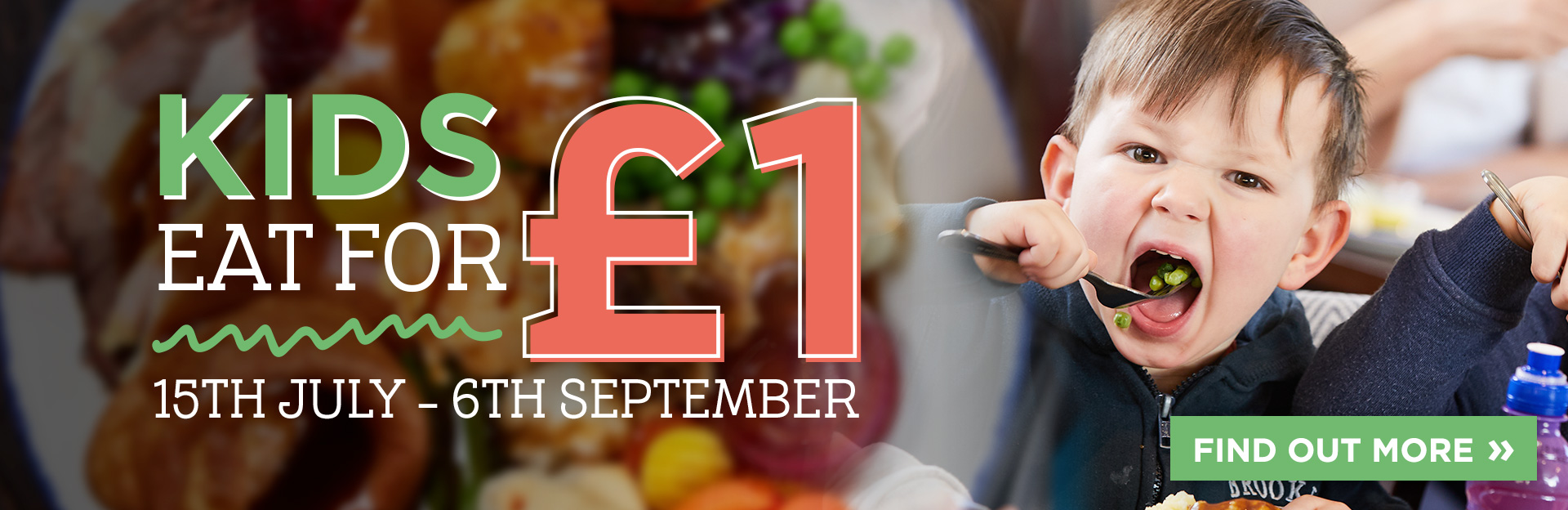 Kids Eat for £1 at De Rodes Arms