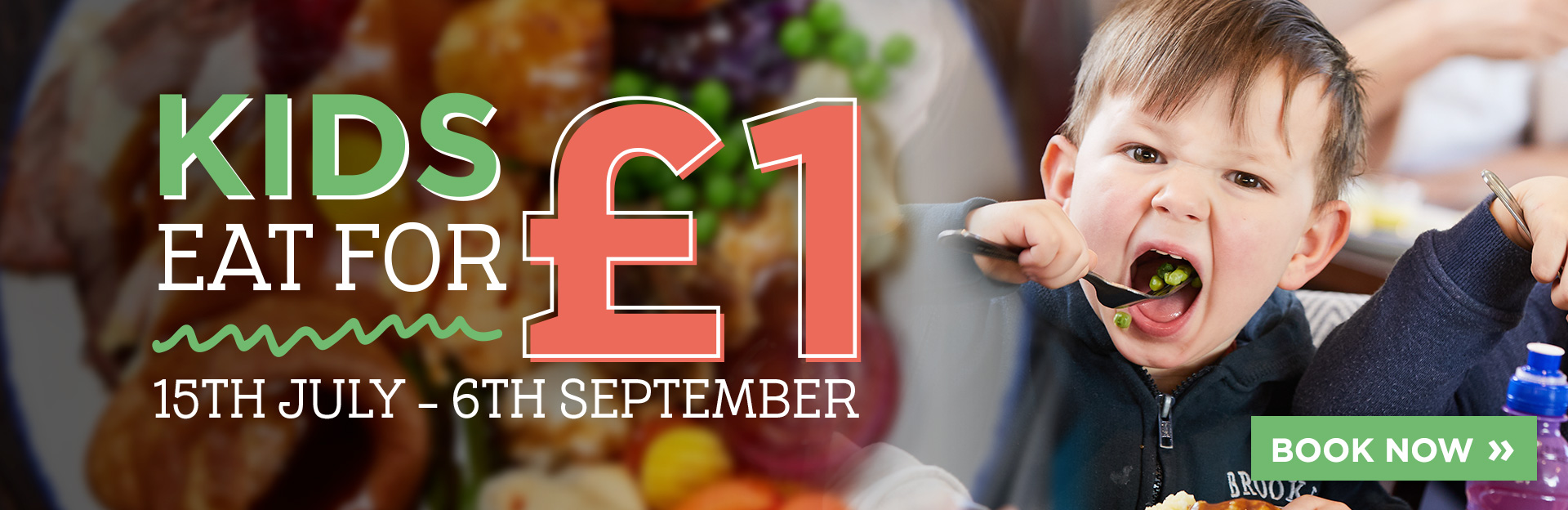 Kids eat for £1 at The Waters Edge