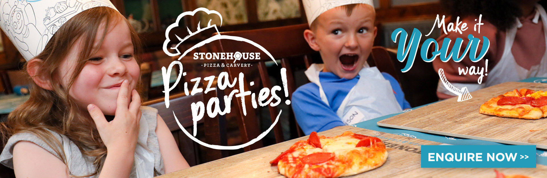 Book a Pizza Party at Your Local Stonehouse Pizza & Carvery